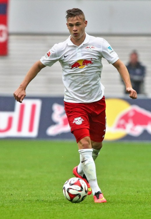 Kimmich playing for his first professional club, RB Leipzig