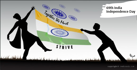 69th India Independence Day 2015 Icon - courtesy rembrandz.com