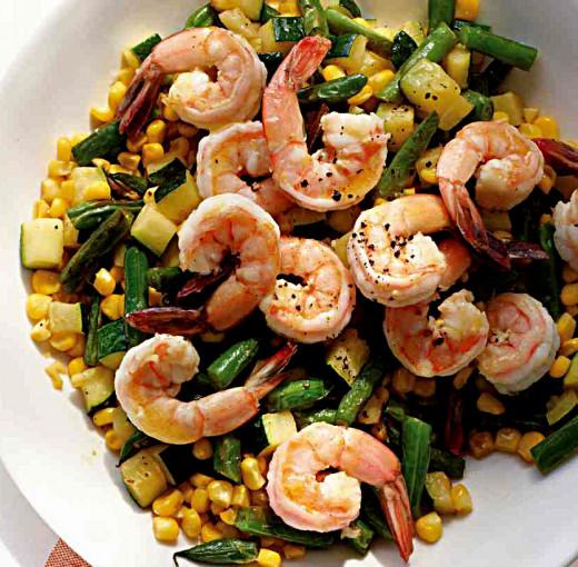 Shrimp succotash recipe - tasty and delighful
