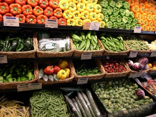 Variety of veggies
