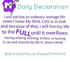 I Declare and Believe the word of God Daily.