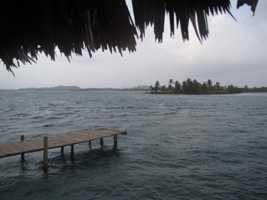 A cloudy day in the Sas Blas Islands (taken during rainy season in late March).