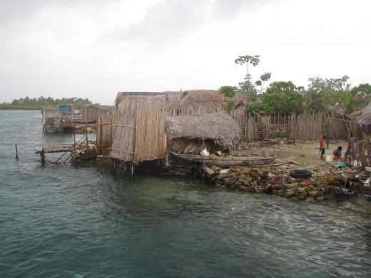 A Kuna village, San Blas Islands.