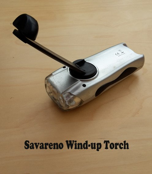 this is My Savareno Wind-up Torch