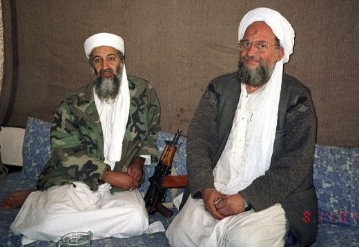 Osama bin Laden and Ayman al-Zawahiri.