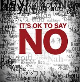 Saying No can be positive