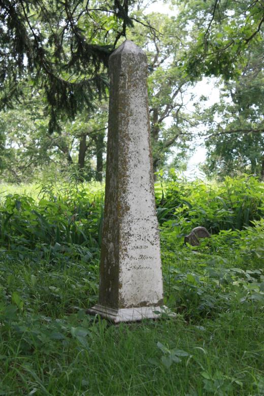 Gravestone of Grandpa Cornelius Dunham, Valley View Cemetery