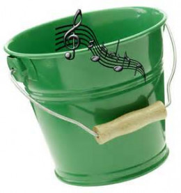"""I Can't carry a tune in a bucket.""  An example of ridiculous thinking."