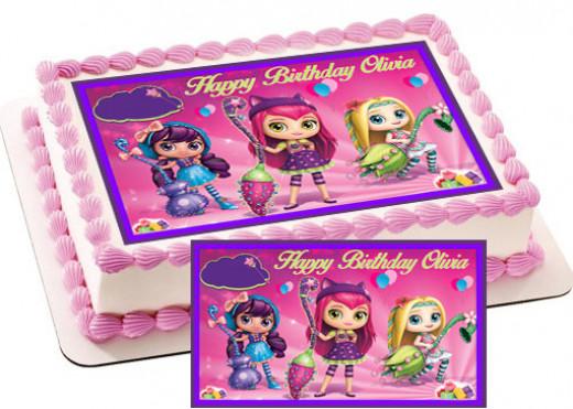 Little Charmers edible cake topper