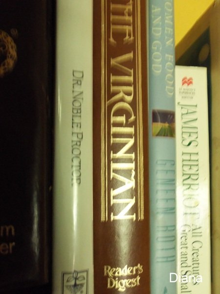 My book shelf holds the classics and the new ones.