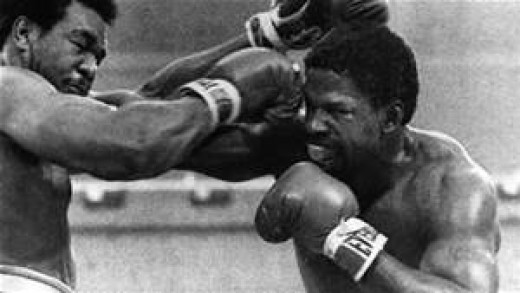 Ron Lyle and George Foreman traded several knockdowns in their heavyweight slugfest.