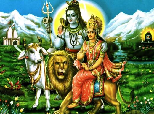 Lord Shiva and Goddess Parvati