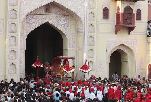 Teej Procession in Jaipur