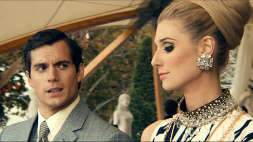 Henry Cavill and Elizabeth Debicki as Napoleon Solo and Victoria Vinciguerra respectively