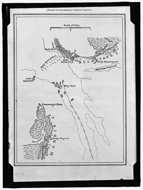 Civil War Map Of Fort Sumter