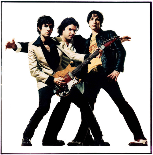 The Jon Spencer Blues Explosion. From left to right: Jon Spencer, Russel Simmins, Judah Bauer