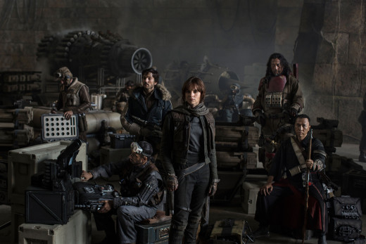 The cast of Disney/Lucasfilm's Star Wars: Rogue One