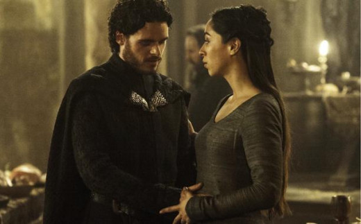 Richard Madden and Oona Chaplin in Game of Thrones