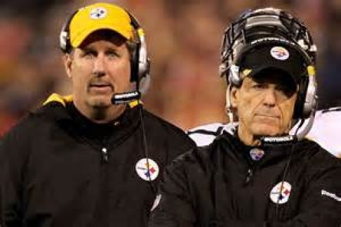 Past and Present.  Dick LeBeau passing the torch to Keith Butler.  Can he handle the pressure?