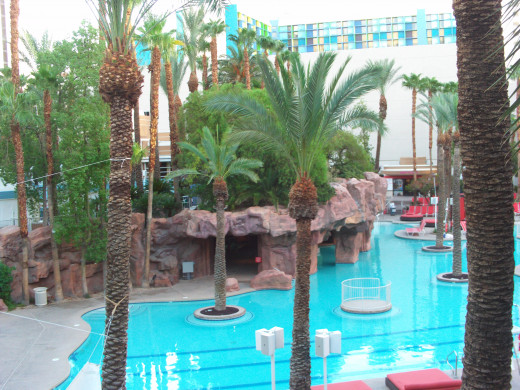 The pools at The Flamingo.