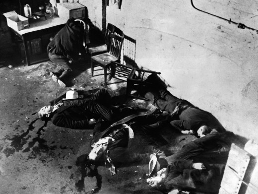Picture of the St. Valentine's Massacre crime scene