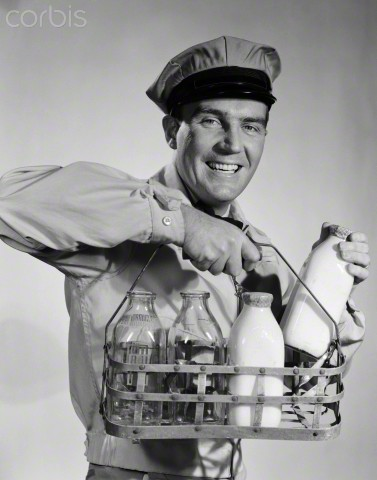 This guy was once THE original service employee. He was the milkman.