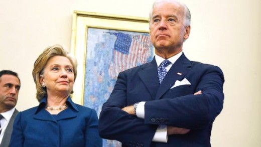 Hillary Clinton (left) and Joe Biden (right) may pummel each other in the 2016 Democratic presidential primaries.