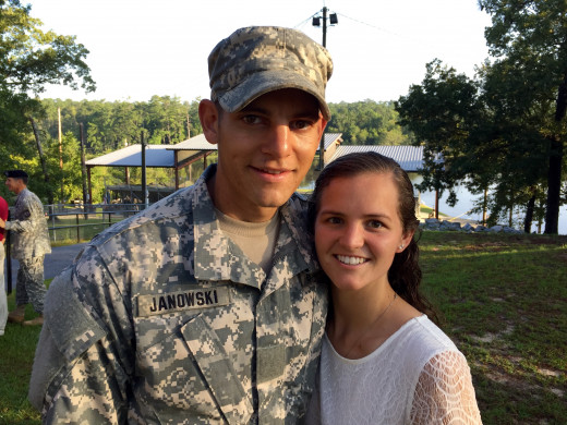 Mike and Kate, Ranger School graduation, August 21, 2015
