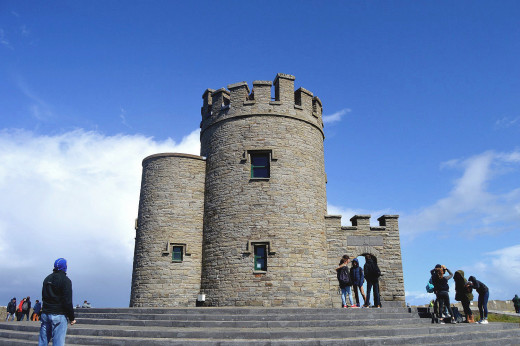 The top of O'Brien's Tower provides the best vantage point of the cliffs.