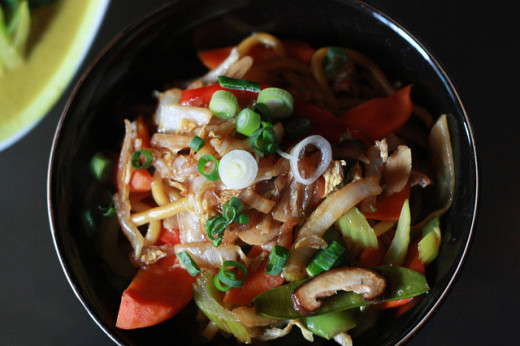 Veggie Chow Mein in Vancouver