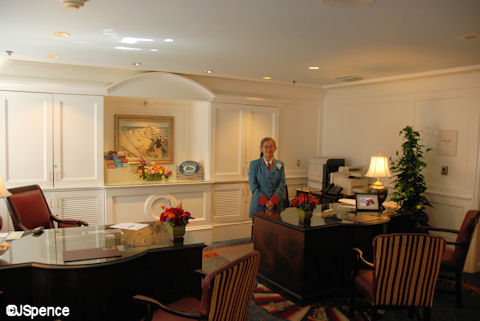 Concierge/Check-in desk at Disney's Yacht Club