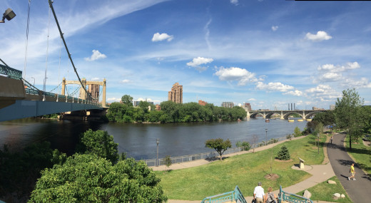 The view atop from First Bridge Park