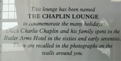 The Sign in the Chaplin Lounge