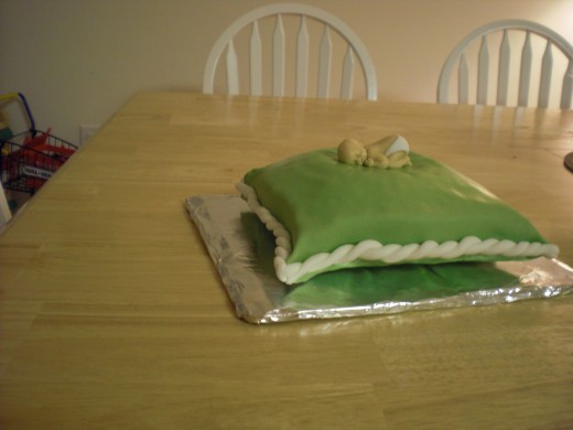 My first pillow cake...