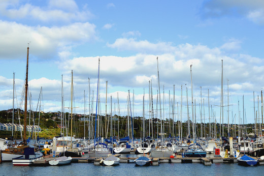 Sailboats fill Kinsale's harbor that brings tourists to this picturesque seaside town.