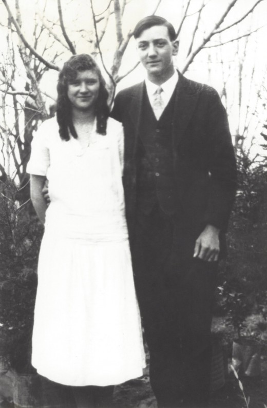 My grandparents before they were married, 1927.