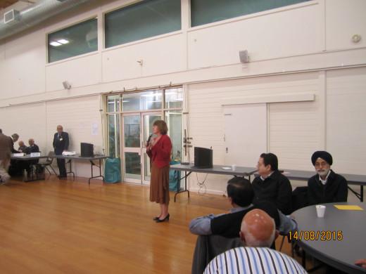 MP Anna Burke addressing ISCA Seniors Group