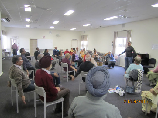 Chair Exercise class conducted by Subhash Chandra.