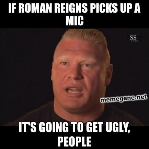 I think I'm defending Roman Reigns wrong