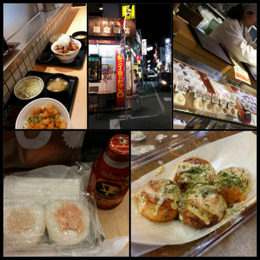 I tasted the best and freshest onigiri from a ground floor food court and the biggest takoyaki I have eaten so far was from a corner stall in Tokyo