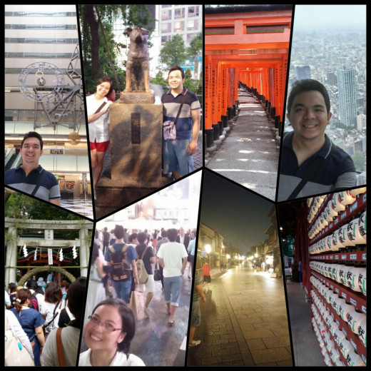 We were able to visit many places for FREE like the Tokyo Metropolitan Building, Hachiko in Shibuya, Gion, Yasaka Shrine, Fushimi Inari and Kanda Shrine.