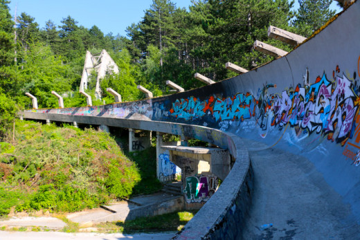 This used to be a bobsleigh track, build for the 1984 Olympics in Sarajevo