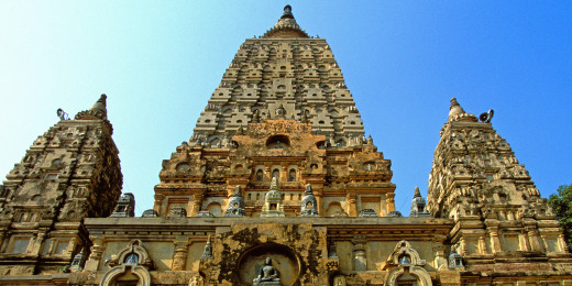 The Mahabodhi temple.