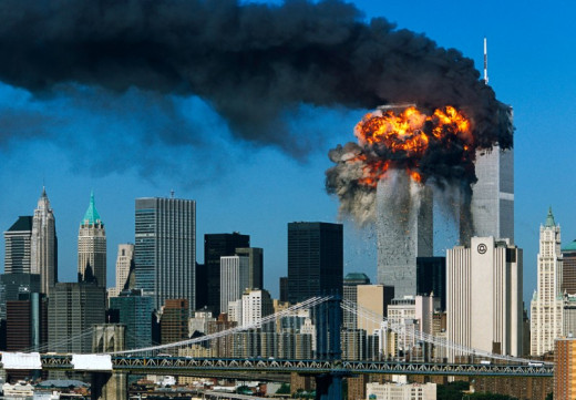 The twin towers attack on 9/11/2001