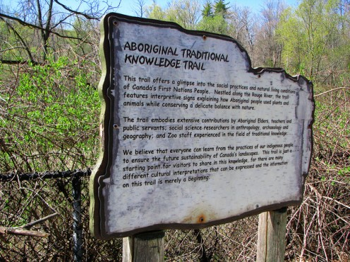 Aboriginal Traditional Knowledge Trail in Ontario.