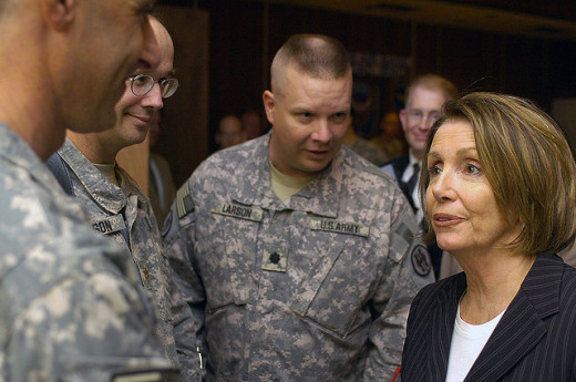 Speaker of the House of Representatives meets with Soldiers in Iraq