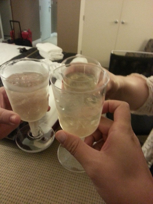 Cheers to the Girls Weekend with Sparkling Wine