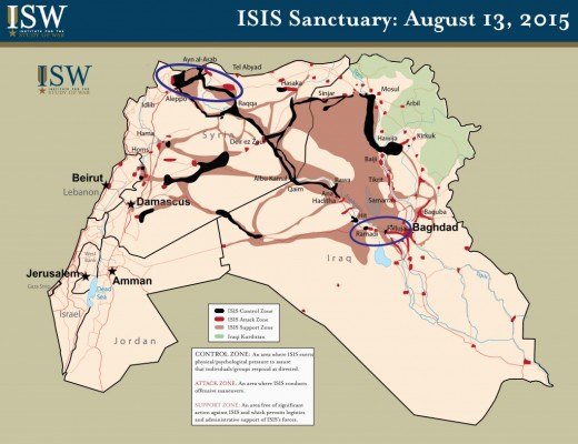 ISIS Control Map as of August 13, 2015                   (Iraq and Syria)