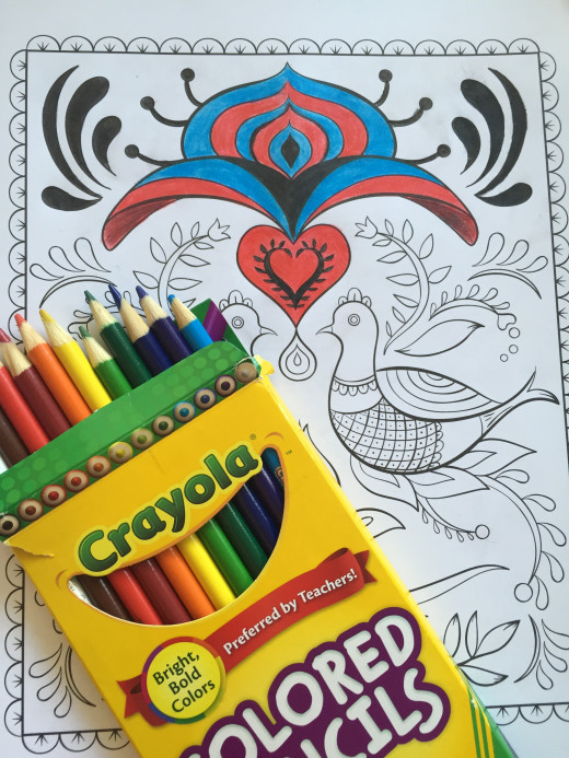 Bad at doodling? Get a coloring book.