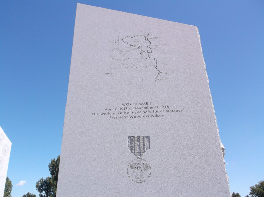 A WWI monument located in Greeley, Colorado